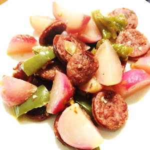 Low Carb Potatoes & Sausage