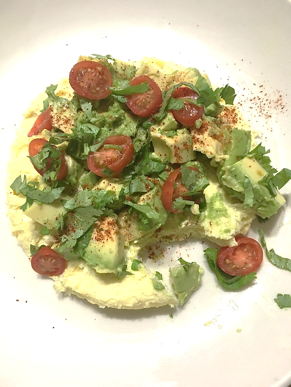 Light & Fluffy Tomato Avocado Omelette