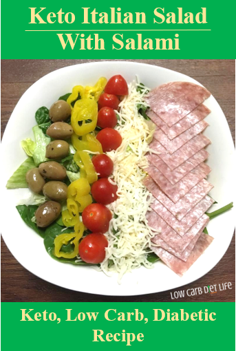 Keto Italian Salad With Salami