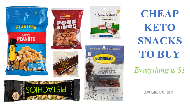 Cheap Keto Snacks To Buy Graphic